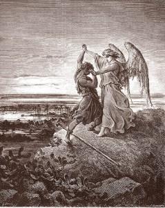 La lotta di Giacobbe con l'angelo di Genesi 32, 23-33