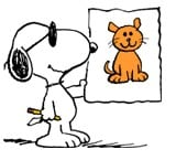Snoopy and the Cat