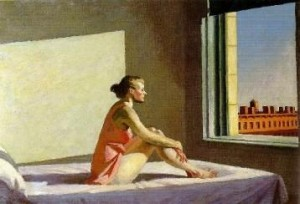"Edward Hopper, ""Morning sun"""