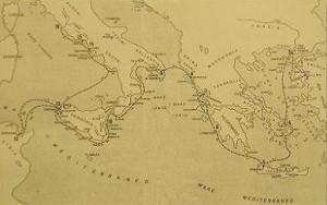 Viaggio di Enea da Troia verso l'Italia