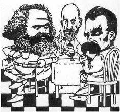 Karl Marx, Sigmund Freud e Friedrich Nietzsche