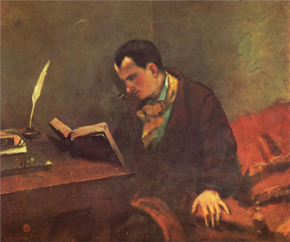 Gustave Courbet, Charles Baudelaire nel 1848