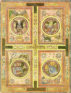 Pagina miniata dal Libro di Kells (IX sec.)