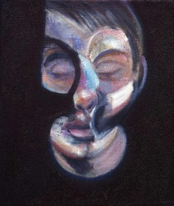 Francis Bacon, Ritratto di Lucien Freud. Volto in sfacelo o... under costruction