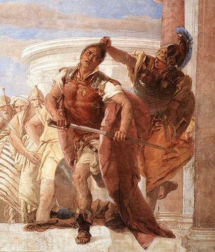 Minerva impedisce ad Achille di uccidere Agamennone