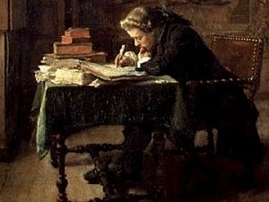 Young man writing, 1852, Jean-Louis Ernest Meissonier