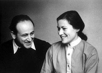 Paul Celan e sua moglie Gisele