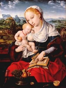 La-Madonna-e-Gesù-Joos-van-Cleve-1525-ca.